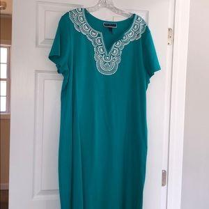 Teal Karen Scott Dress Size XL